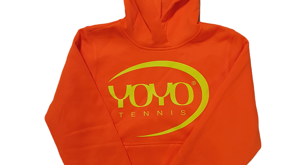 YOYO-TENNIS HOODY ORANGE/YELLOW JUNIOR