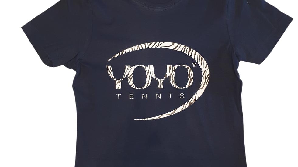 YOYO-TENNIS T-SHIRT WOMAN NAVY/ZEBRA