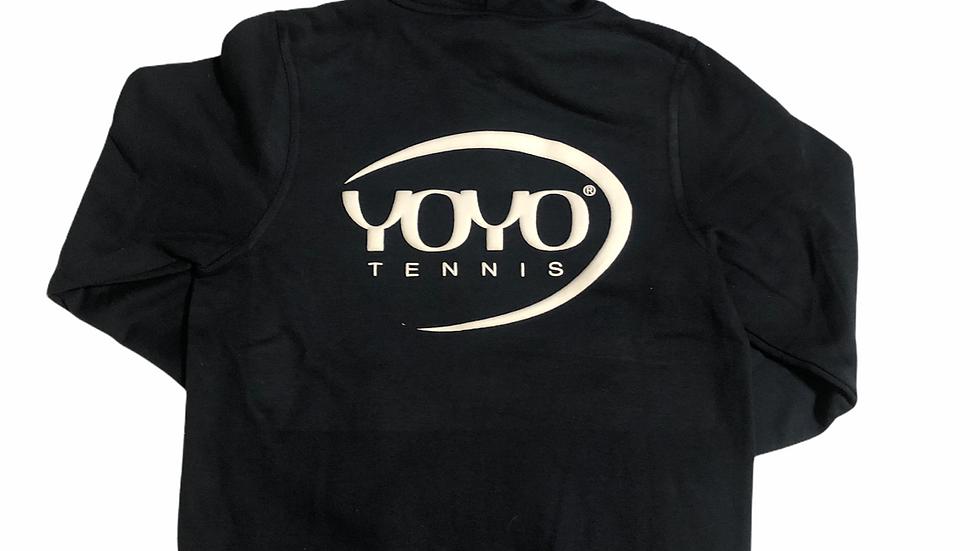 YOYO-TENNIS ZIP HOODY BLACK/WHITE