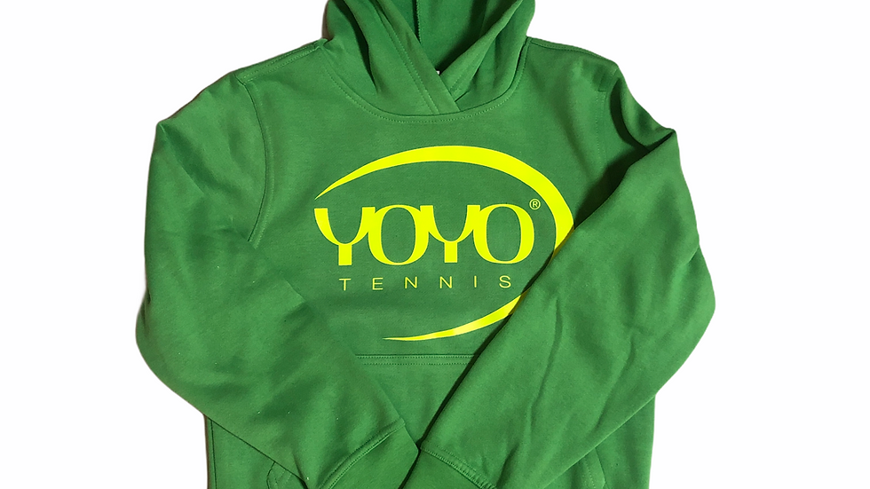 YOYO-TENNIS HOODY GREEN/YELLOW JUNIOR