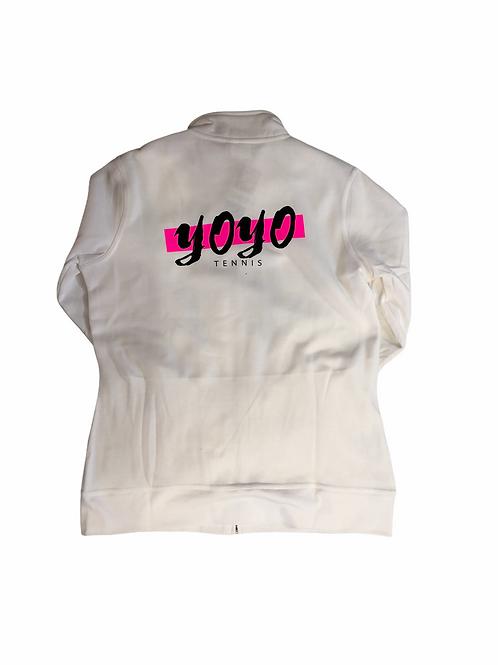 YOYO-TENNIS ZIP HOODY WHITE/PINK