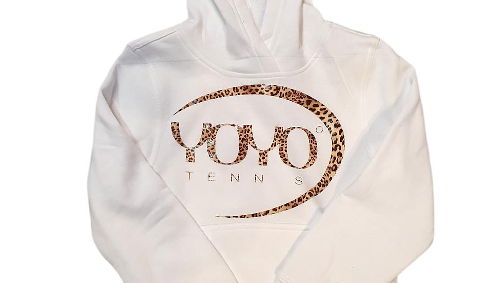 YOYO-TENNIS HOODY WHITE/LEO JUNIOR