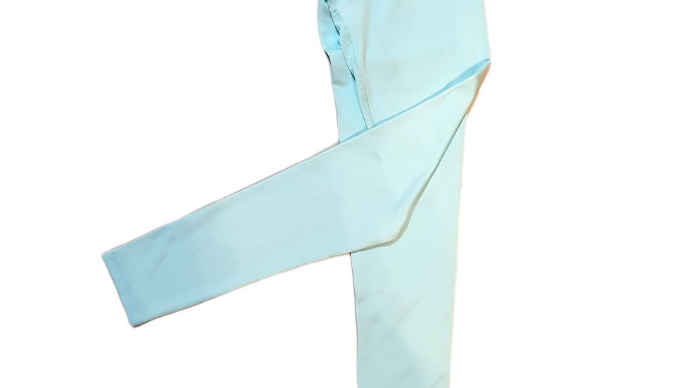 YOYO-TENNIS LEGGINGS LIGHTBLUE/WHITE