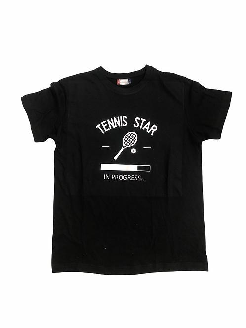 YOYO-TENNIS T-SHIRT TENNIS STAR BLACK