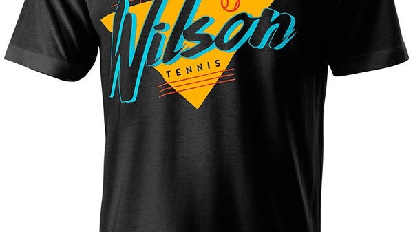 WILSON T-SHIRT NOSTALGIA NERO