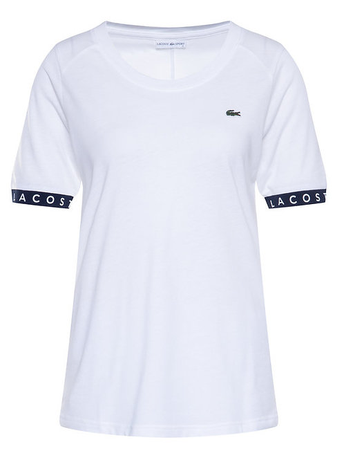 LACOSTE FLOWING LETTER SLEEVE T-SHIRT WOMAN
