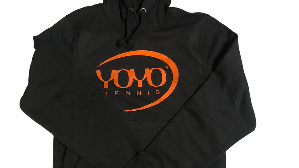 YOYO-TENNIS HOODY BLACK/ORANGE JUNIOR