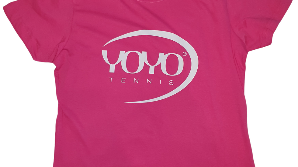 YOYO-TENNIS T-SHIRT PINK/WHITE WOMAN