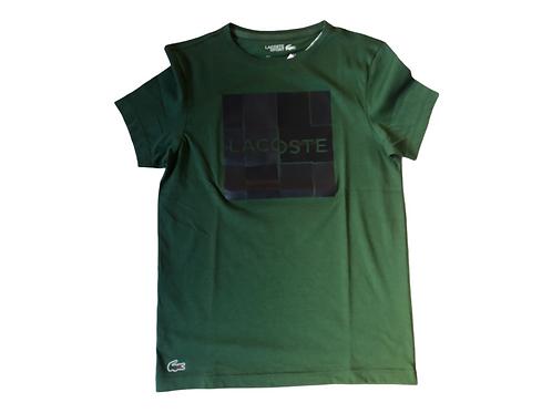 LACOSTE T-SHIRT GREEN LOGO