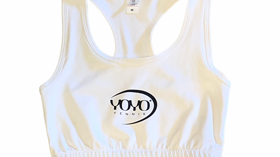 YOYO-TENNIS SPORT TOP WHITE/BLACK