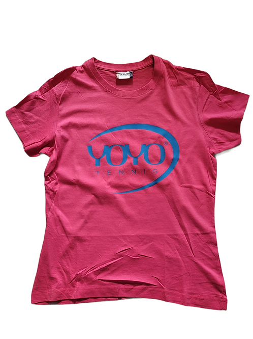 YOYO-TENNIS T-SHIRT WOMAN PINK/BLUE