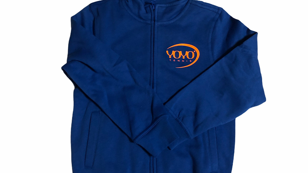 YOYO-TENNIS ZIP HOODY BLUE/ORANGE JUNIOR
