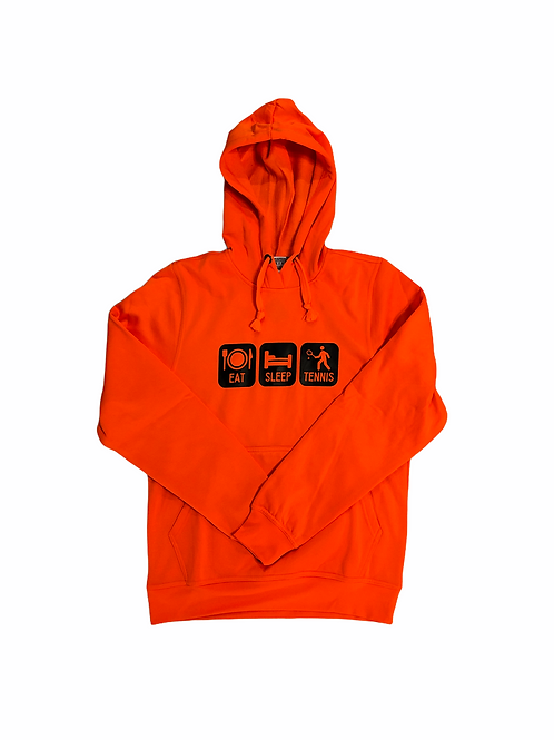 YOYO-TENNIS HOODY EAT SLEEP TENNIS ORANGE