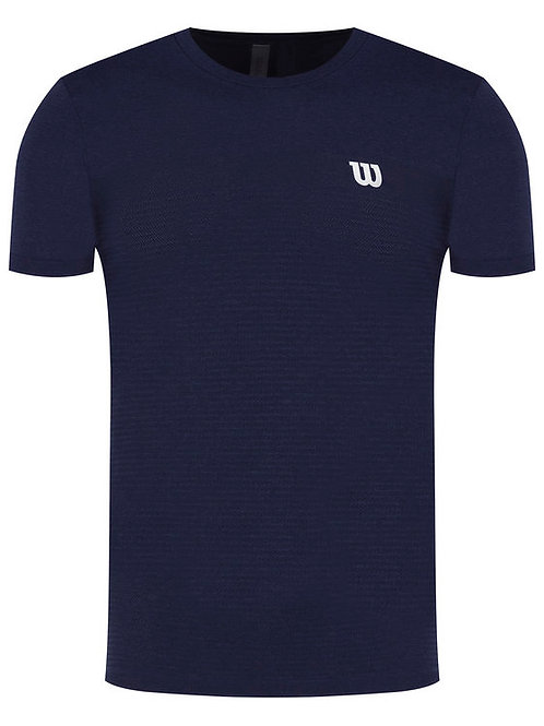 WILSON T-SHIRT COMPETITION SEAMLESS CREW NAVY