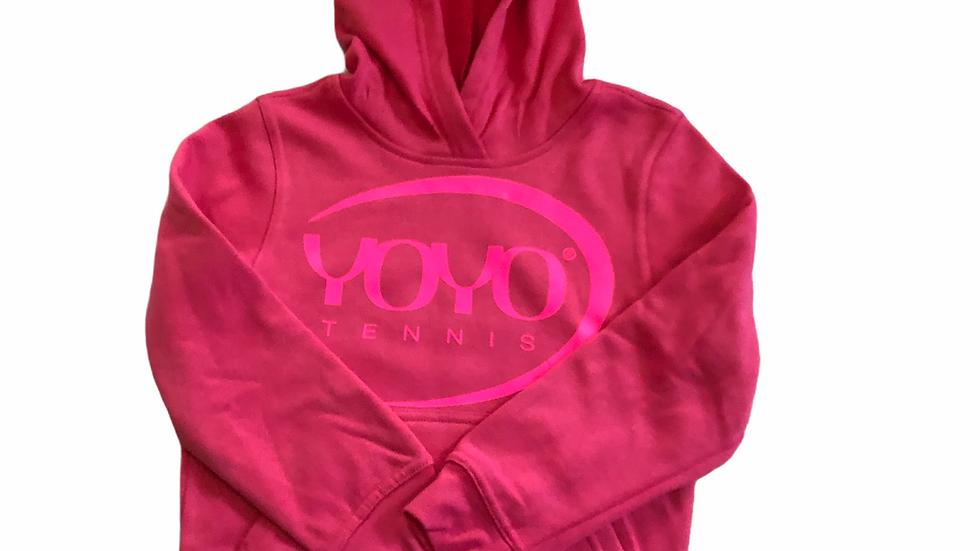 YOYO-TENNIS HOODY ROSA/PINK JUNIOR