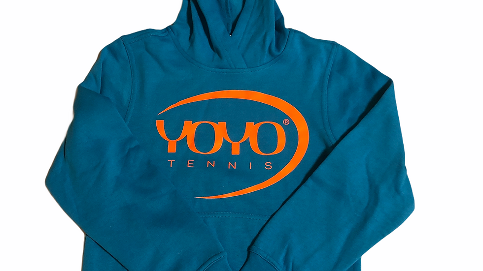 YOYO-TENNIS HOODY CYAN/ORANGE