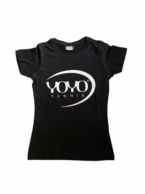 YOYO-TENNIS T-SHIRT WOMAN BLACK/PEARL