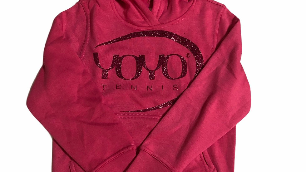 YOYO-TENNIS HOODY PINK/GLITTER