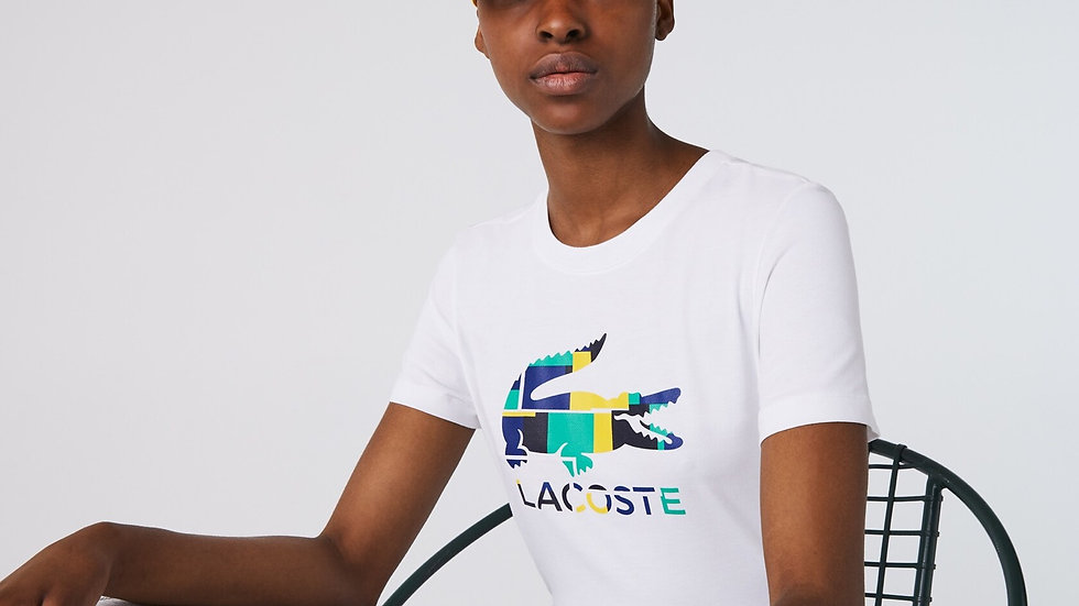 LACOSTE T-SHIRT BIANCO DONNA