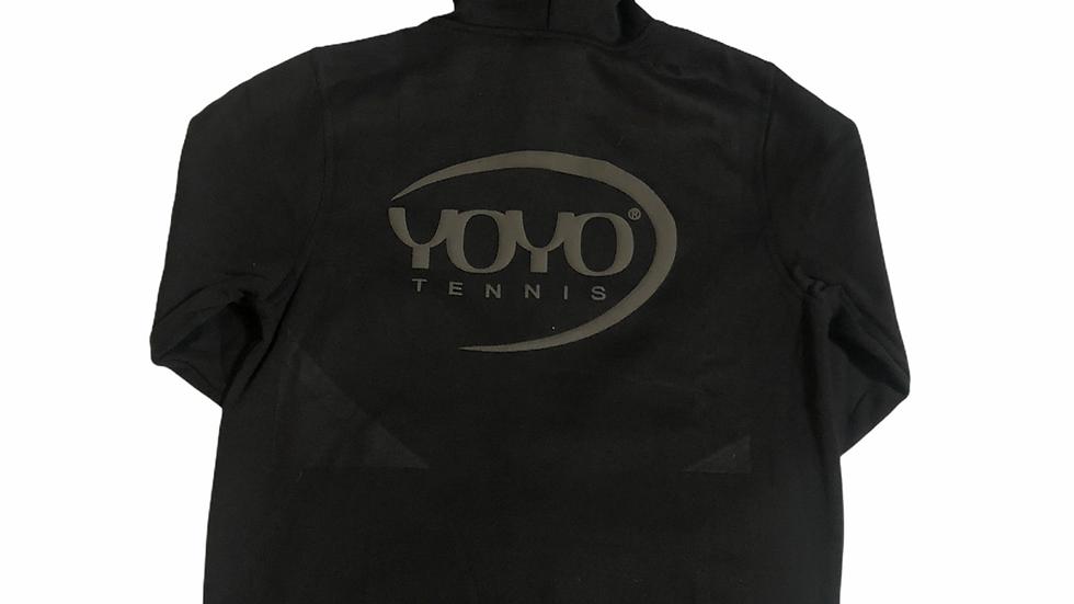YOYO-TENNIS ZIP HOODY BLACK/GREY 3D