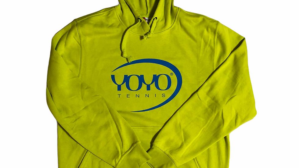 YOYO-TENNIS HOODY YELLLOW/CYAN