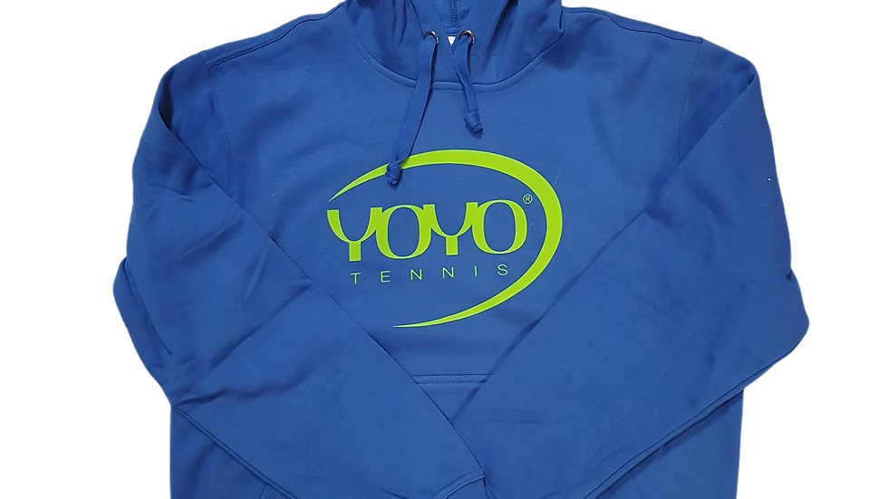 YOYO-TENNIS HOODY BLUE/LIGHT GREEN
