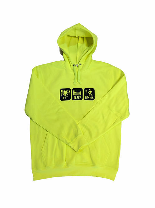 YOYO-TENNIS HOODY EAT SLEEP TENNIS YELLOW