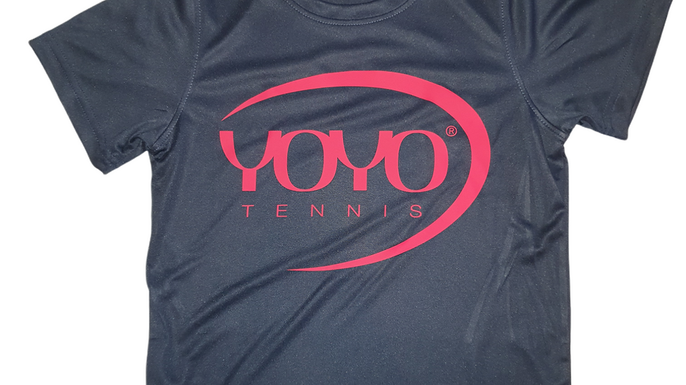 YOYO-TENNIS T-SHIRT POLYESTER NAVY/RED JUNIOR