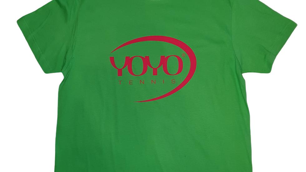 YOYO-TENNIS T-SHIRT GREEN/RED