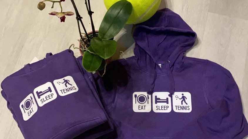 YOYO-TENNIS HODDY EAT SLEEP TENNIS VIOLET