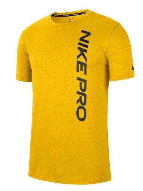 NIKE T-SHIRT PRO YELLOW