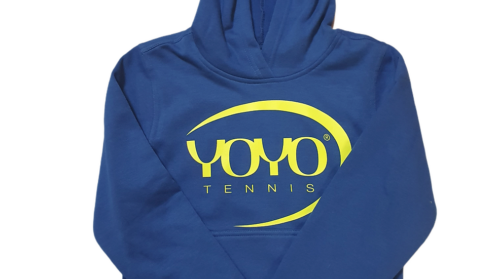 YOYO-TENNIS HOODY BLUE/YELLOW JUNIOR