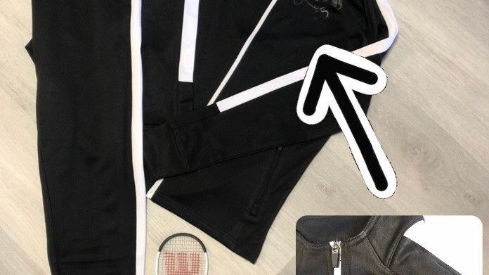 YOYO-TENNIS JACKET + PANT BLACK UNISEX