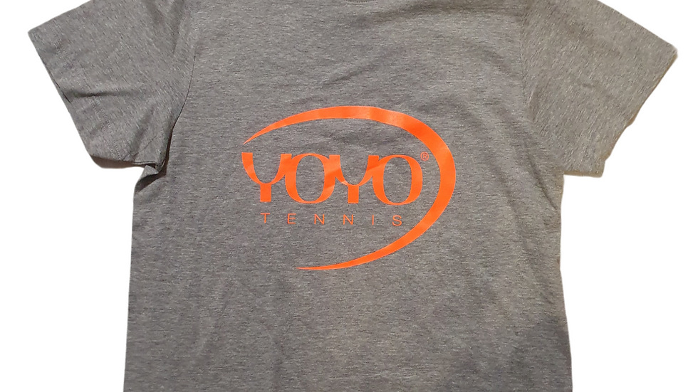 YOYO-TENNIS T-SHIRT GREY/ORANGE