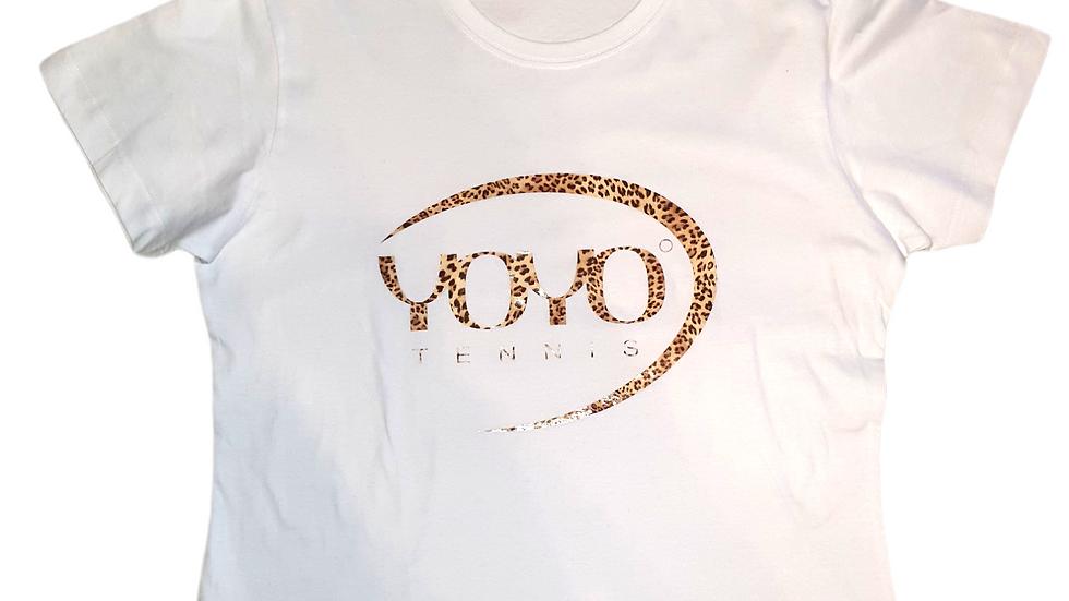 YOYO-TENNIS T-SHIRT WHITE/LEO WOMAN