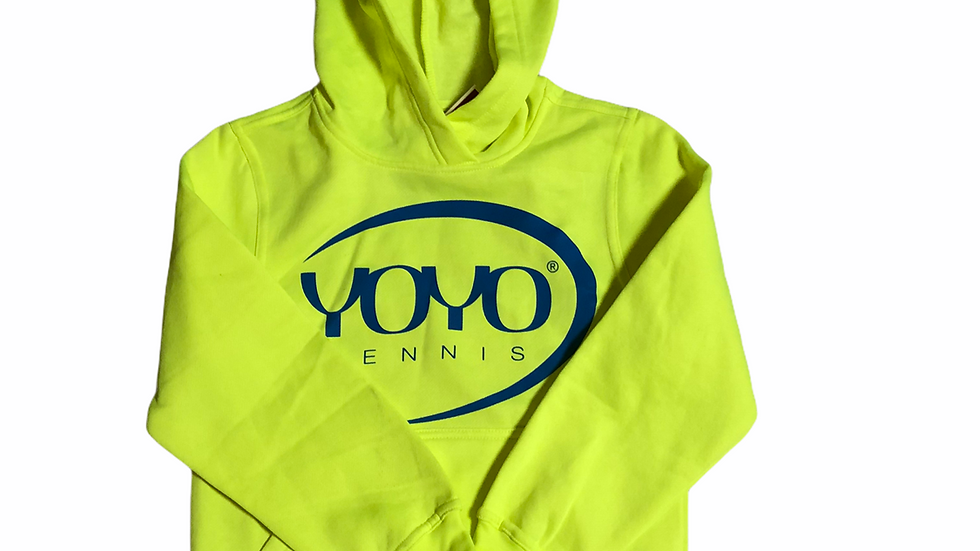 YOYO-TENNIS HOODY YELLOW/BLUE JUNIOR