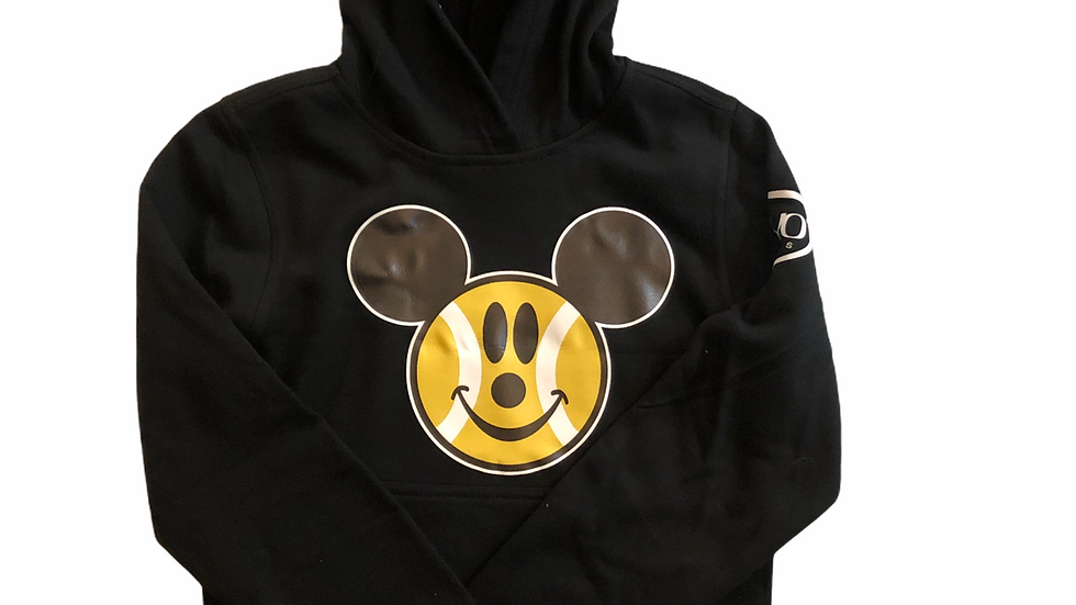YOYO-TENNIS HOODY MOUSE BLACK JUNIOR