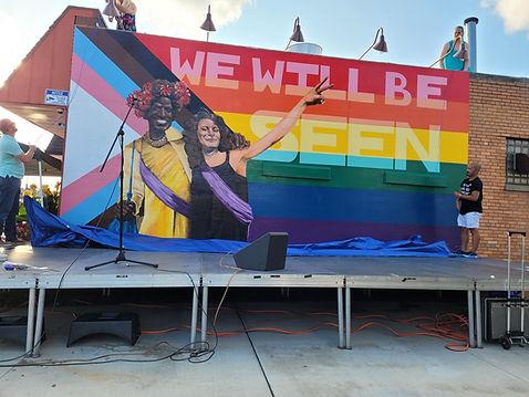 LGBTQ Mural Green Bay