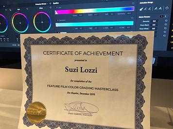 Color Grading Certificate