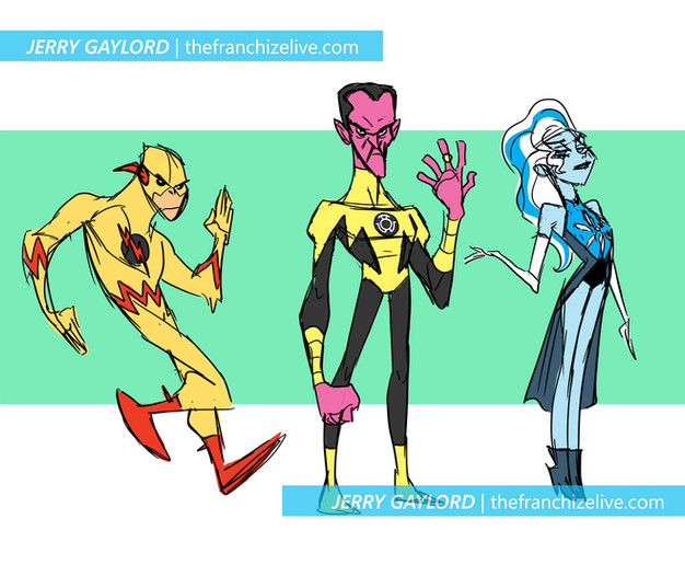 Reverse Flash, Sinestro, and Killer Frost