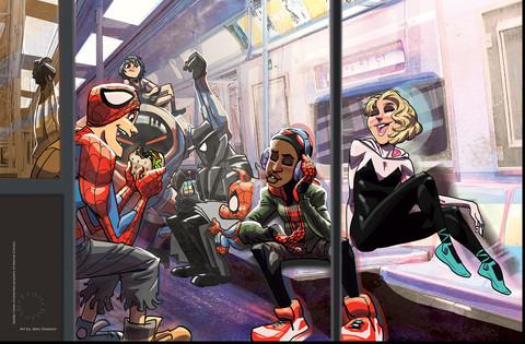 Spider-Verse in Subway