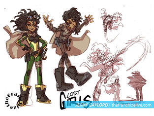 LOST GIRLS design sheet 1