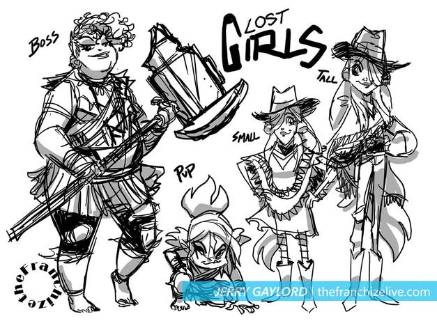 LOST GIRLS design sheet 2