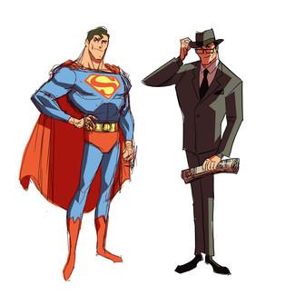 Superman and Clark