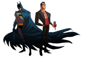 Batman and Bruce