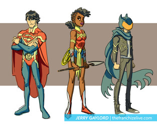 Justice League Crisis pitch designs