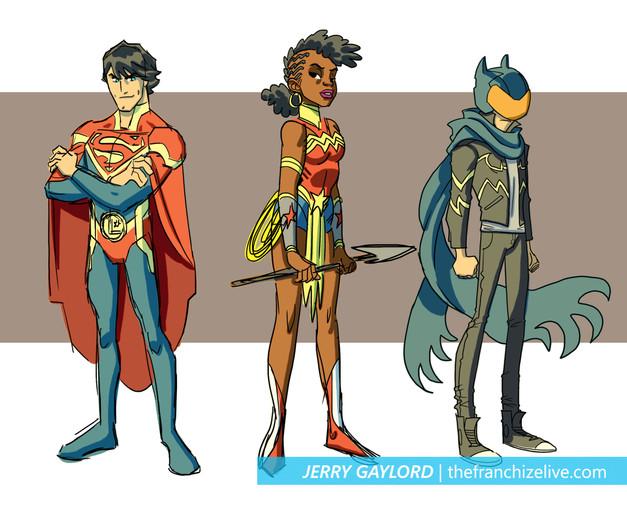 Justice League Crisis pitch designs