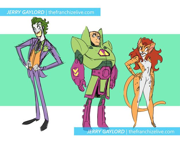Joker, Lex, and Cheetah