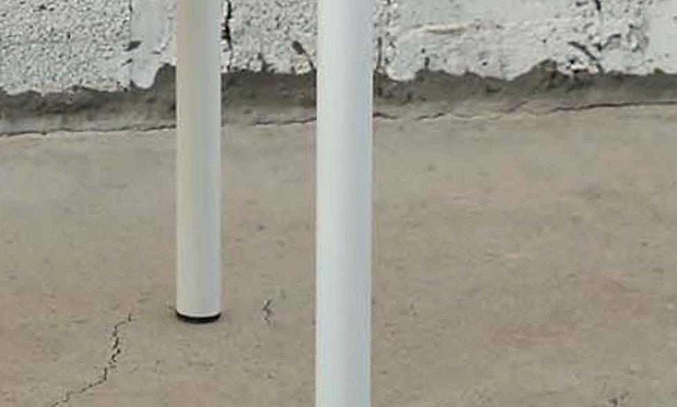 רגל - 4 גלילים לבנים מחוזקים