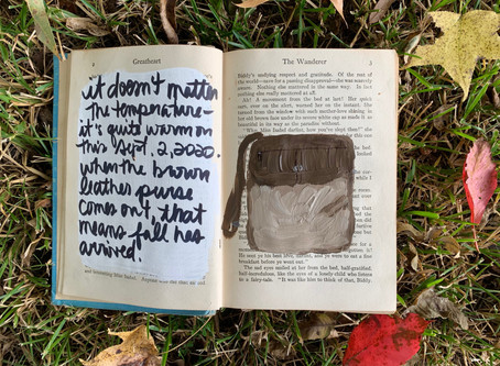 the worn leather purse